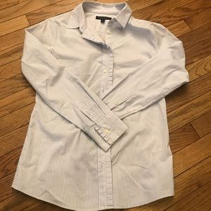 Stripped long sleeve button down